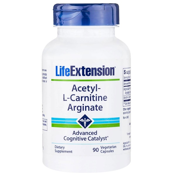 Life Extension, Acetyl-L-Carnitine Arginate, 90 Veggie Caps (Discontinued Item)