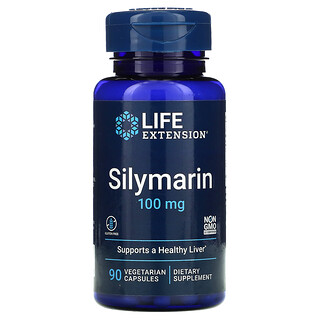 Life Extension, Silymarin, 100 mg, 90 Vegetarian Capsules