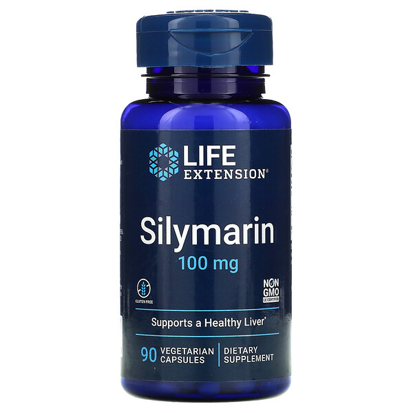 Life Extension, Silymarin, 100 mg, 90 Vegetarian Capsules