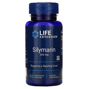 Лайф Экстэншн, Silymarin, 100 mg, 90 Vegetarian Capsules отзывы покупателей