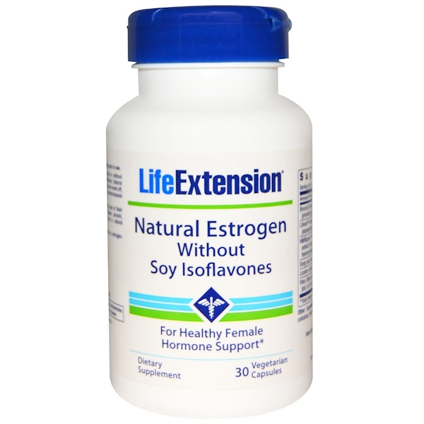 Life Extension, Natural Estrogen Without Soy Isoflavones, 30 Veggie Caps (Discontinued Item)