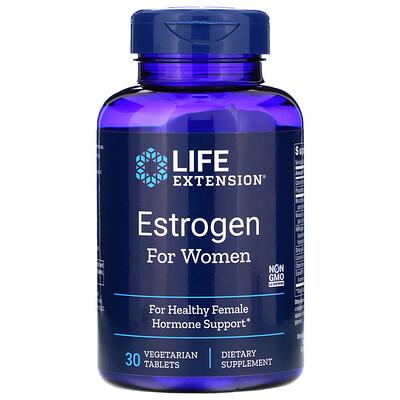 Купить Life Extension Эстроген для женщин, 30вегетарианских таблеток