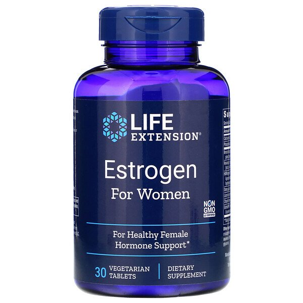 Life Extension, Estrogen for Women, 30 Vegetarian Tablets