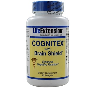 Life Extension, Cognitex с Brain Shield, 90 гелевых капсул