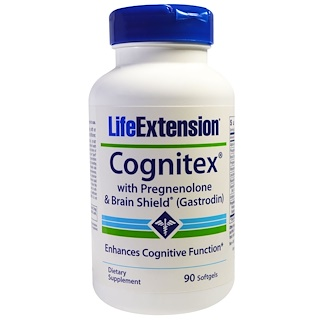 Life Extension, Cognitex with Pregnenolone & Brain Shield (Gastrodin), 90 Softgels