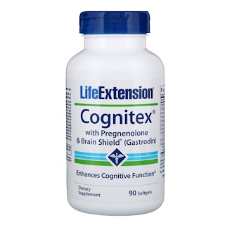 Life Extension, Cognitex with Pregnenolone & Brain Shield (Gastrodin), 90 Softgels