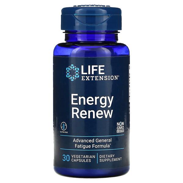 Life Extension, Energy Renew, 30 Vegetarian Capsules
