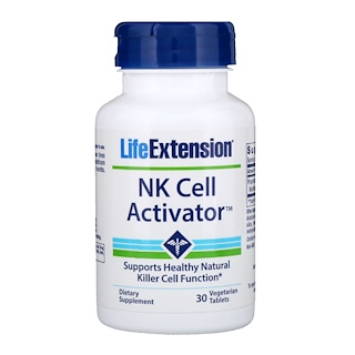 Life Extension, NK Cell Activator, 30 Vegetarian Tablets