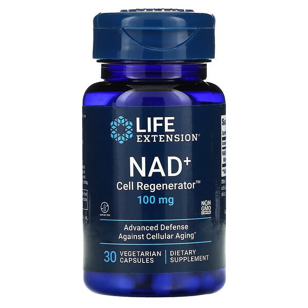 NAD+ Cell Regenerator, 100 mg, 30 Vegetarian Capsules