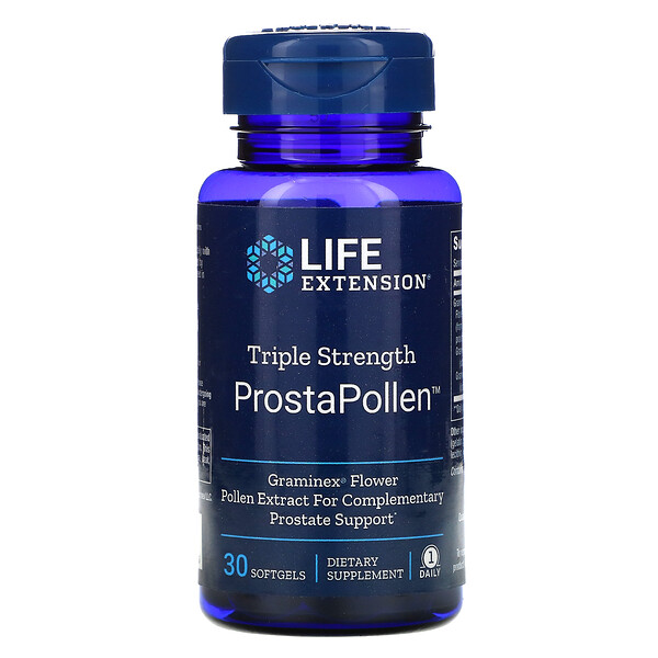 Life Extension, Triple Strength Prostate Pollen, 30 Softgels