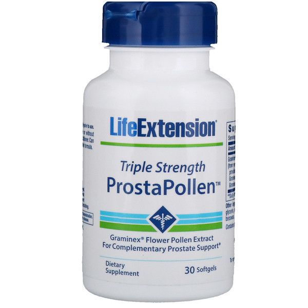 Life Extension, ProstaPollen, Triple Strength, 30 Softgels