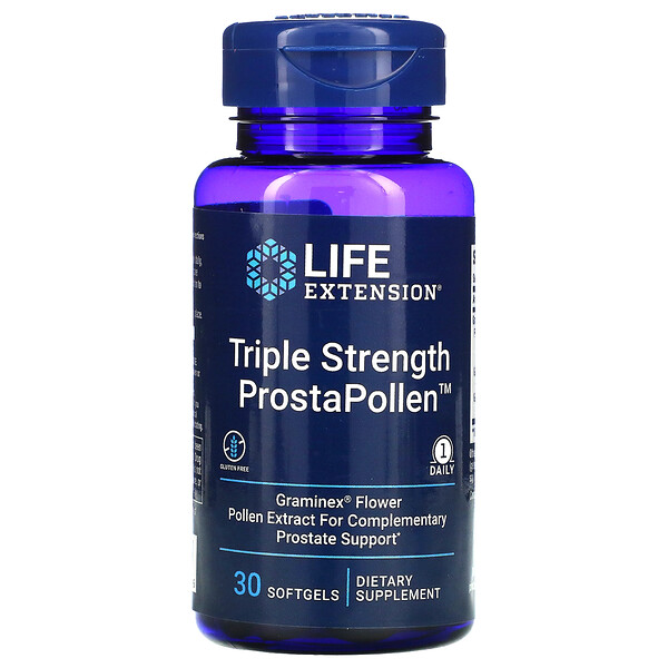 Life Extension, Triple Strength ProstaPollen, 30 Softgels