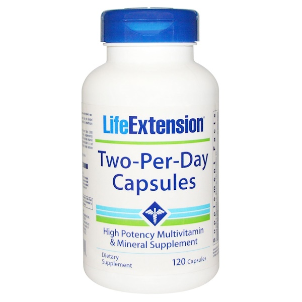 Life Extension, Two-Per-Day Capsules, 120 Capsules (Discontinued Item)