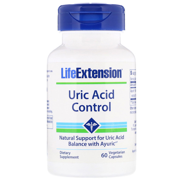 Life Extension, 尿酸控制,60粒素食膠囊