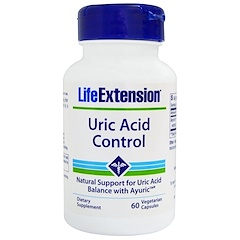 Life Extension, Uric Acid Control, 60 Veggie Caps