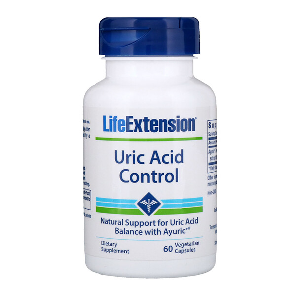 Life Extension, Uric Acid Control, 60 Vegetarian Capsules (Discontinued Item)