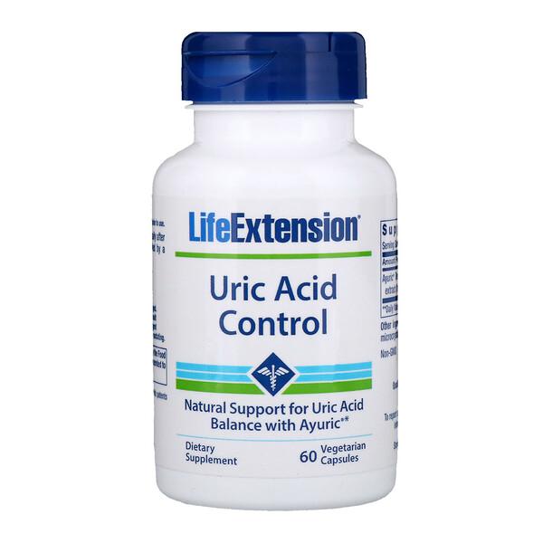 Life Extension, Uric Acid Control, 60 Vegetarian Capsules