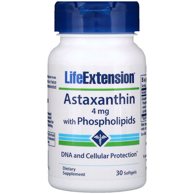 Купить Астаксантин с фосфолипидами, 4 мг, 30 мягких капсул