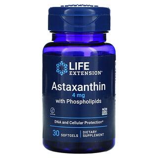 Life Extension, Astaxantina con fosfolípidos, 4mg, 30cápsulas blandas