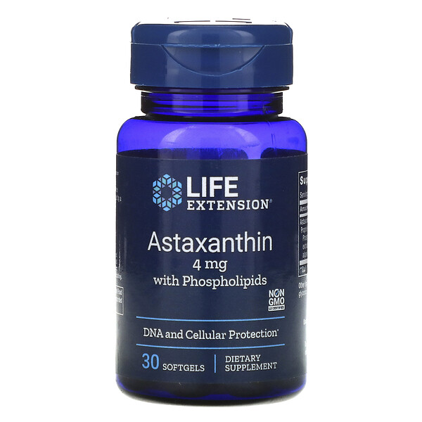 Astaxanthin with Phospholipids, 4 mg, 30 Softgels