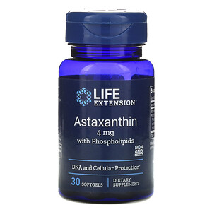 Лайф Экстэншн, Astaxanthin with Phospholipids, 4 mg, 30 Softgels отзывы