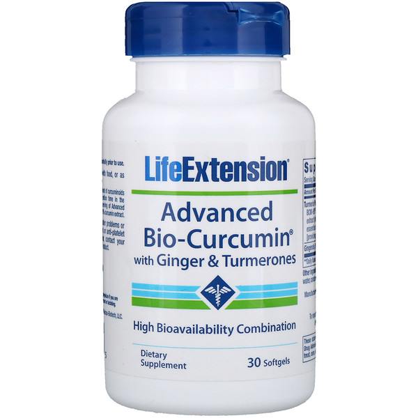 Life Extension, Advanced Bio-Curcumin with Ginger & Turmerones, 30 Softgels (Discontinued Item)