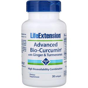 Лайф Экстэншн, Advanced Bio-Curcumin with Ginger & Turmerones, 30 Softgels отзывы