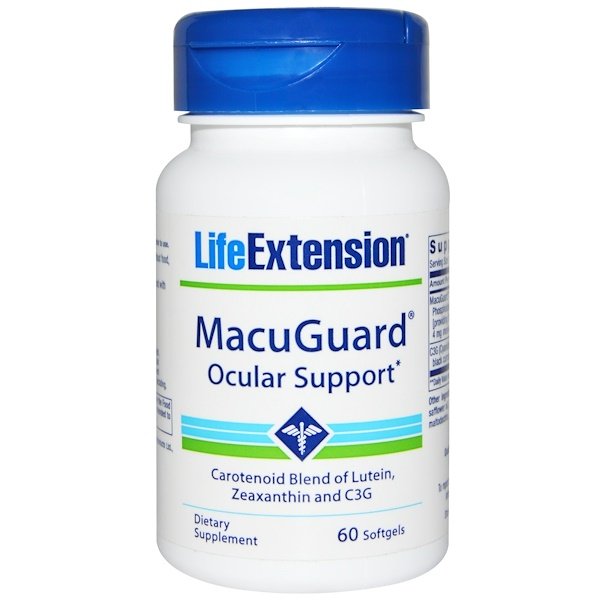 Life Extension, MacuGuard Ocular Support, 60 Softgels (Discontinued Item)