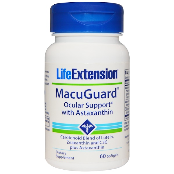Life Extension, MacuGuard, Ocular Support, with Antaxanthin, 60 Softgels (Discontinued Item)