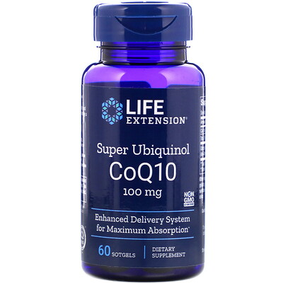 Фото - Super Ubiquinol CoQ10 with Enhanced Mitochondrial Support, 100 мг, 60 мягких желатиновых капсул high absorption coq10 with bioperine 100 мг 60 мягких желатиновых капсул
