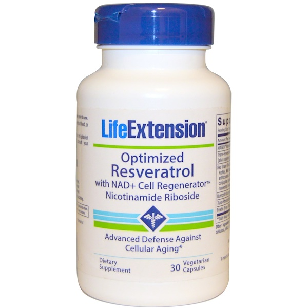 Life Extension, Optimized Resveratrol with NAD+ Cell Generator Nicotinamide Riboside, 30 Veggie Caps (Discontinued Item)