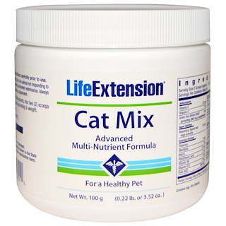 Life Extension, Cat Mix, Advanced Multi-Nutrient Formula, 3.52 oz (100 g)