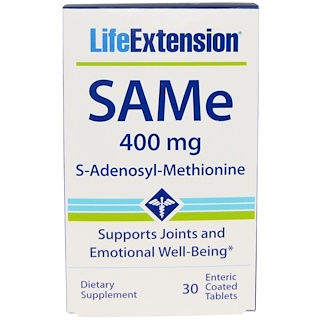 Life Extension, SAMe (S-Adenosyl-L-Methionine), 400 mg, 30 Enteric Coated Tablets