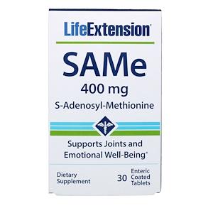 Лайф Экстэншн, SAMe (S-Adenosyl-L-Methionine), 400 mg, 30 Enteric Coated Tablets отзывы