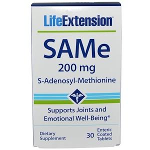 Лайф Экстэншн, SAMe (S-Adenosyl-L-Methionine), 200 mg, 30 Enteric Coated Tablets отзывы