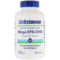 Omega Foundations, Mega EPA/DHA, 120 Softgels - фото