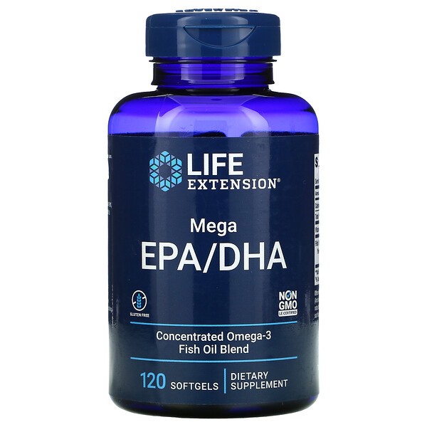 Life Extension, Mega EPA/DHA, 120 капсул