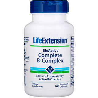Life Extension, BioActive Complete B-مركب، 60 كبسولة نباتية