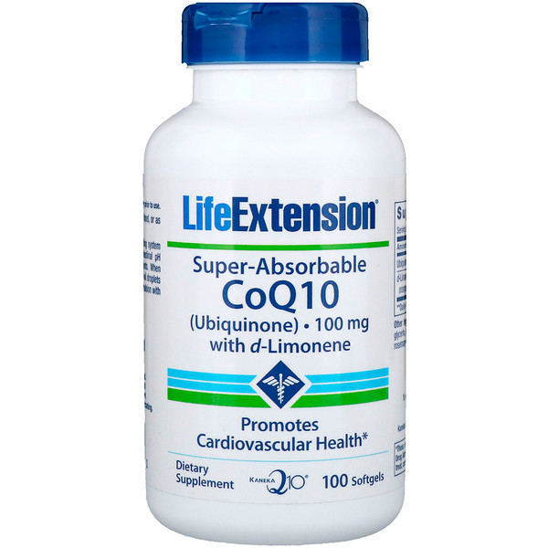 Life Extension, Super-Absorbable CoQ10, 100 mg, 100 Softgels (Discontinued Item)