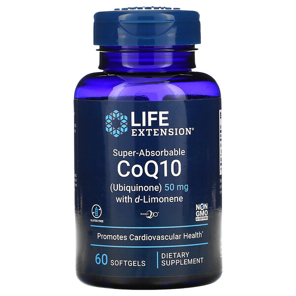 Super-Absorbable CoQ10 with d-Limonene, 50 mg, 60 Softgels