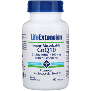 Life Extension, Super-Absorbable CoQ10, 100 mg, 60 Softgels
