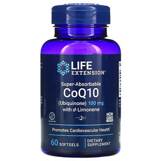 Life Extension, CoQ10 فائق الامتصاص، 100 ملجم، 60 كبسولة هلامية