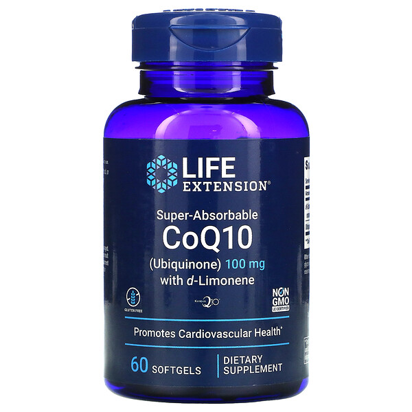 Life Extension, Super-Absorbable CoQ10, 100mg, 소프트젤 60정