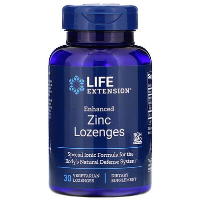 Life Extension Цинковые вегетарианские леденцы усовершенствованной формулы, 30 шт.  - купить со скидкой