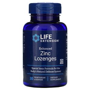 Лайф Экстэншн, Enhanced Zinc Lozenges, 30 Vegetarian Lozenges отзывы покупателей