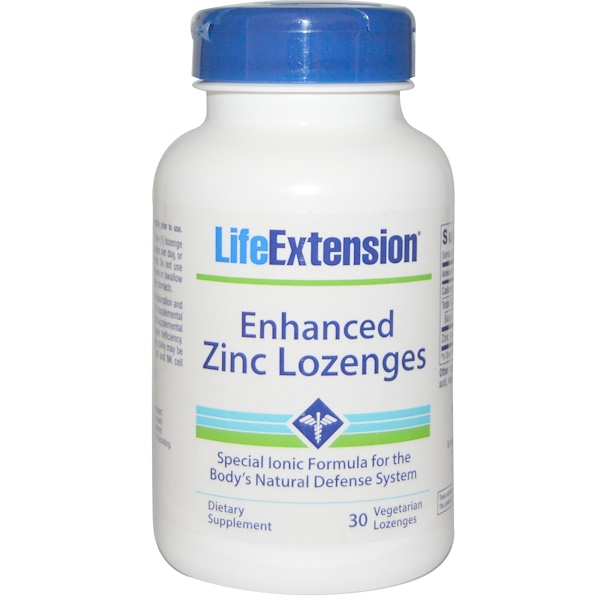 Life Extension, Enhanced Zinc Lozenges, Peppermint Flavor, 30 Veggie Lozenges (Discontinued Item)
