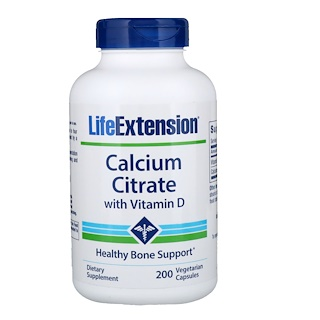 Life Extension, Calcium Citrate with Vitamin D, 200 Vegetarian Capsules