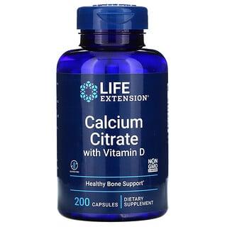 Life Extension, цитрат кальция с витаминомD3, 200капсул