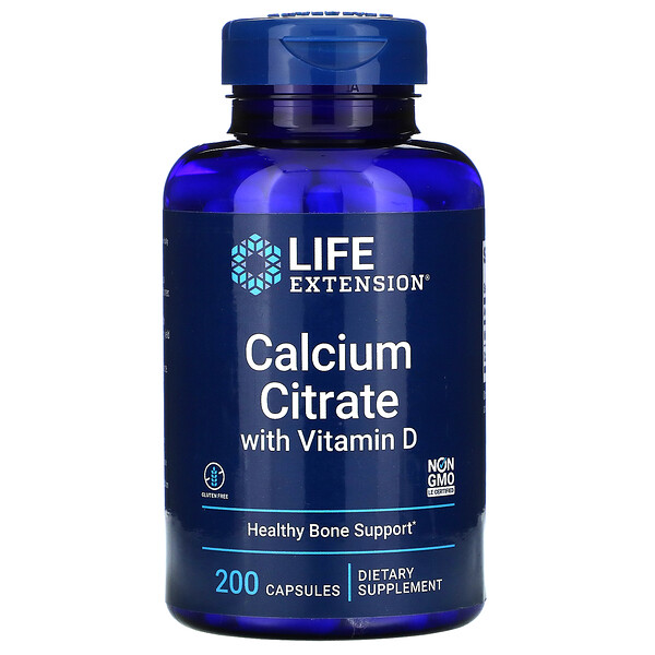 Calcium Citrate with Vitamin D, 200 Capsules