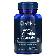 Life Extension, 乙醯 -L- 肉堿精氨酸,90 粒素食膠囊。